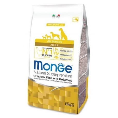 Monge All Breeds Adult Pollo, Riso e Patate 2,5 kg
