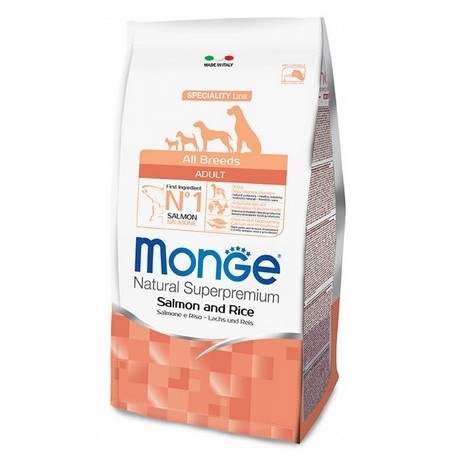 Monge All Breeds Adult Salmone e Riso 12 kg