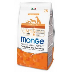 Monge All Breeds Cane Adult Anatra, Riso e Patate 12 kg