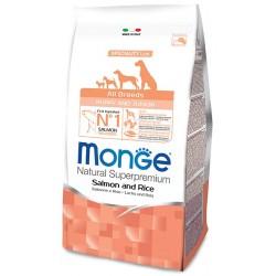 Monge All Breeds Puppy & Junior Salmone e Riso 12 kg