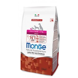 Monge Extra Small Adult Agnello, Riso e Patate 2,5 kg