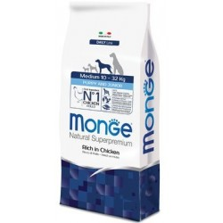 Monge Medium Puppy & Junior Ricco di Pollo 800 gr