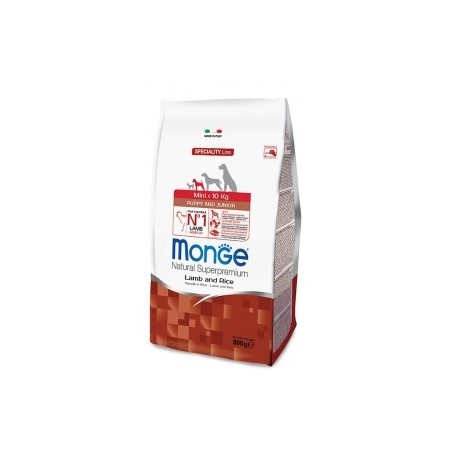 Monge Mini Puppy & Junior Agnello e Riso 800 gr
