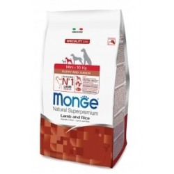 Monge Mini Puppy & Junior Agnello e Riso 2,5 kg