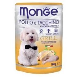 MONGE GRILL DOG BUSTE POL/TAC 100GR
