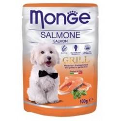 MONGE GRILL DOG BUSTE SALMONE 100GR
