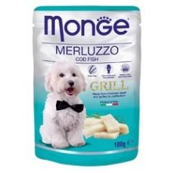 MONGE GRILL DOG BUSTE MERLUZZO 100GR