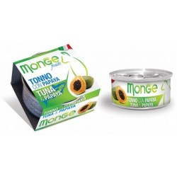 MONGE CAT FRUIT TONNO CON PAPAYA 80GR