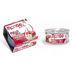 MONGE CAT FRUIT POLLO CON MELA 80GR