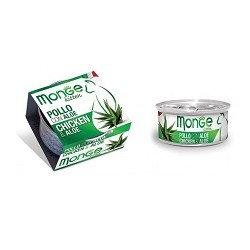 MONGE CAT FRUIT POLLO CON ALOE 80GR
