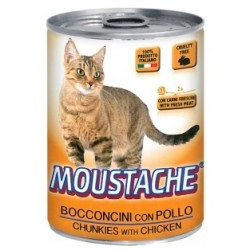 MOUSTACHE GATTO POLLO BOCC 415GR