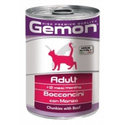 GEMON CAT ADULT MANZO 400GR