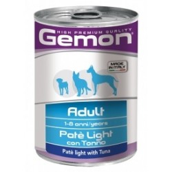 GEMON DOG LIGHT TONNO 400GR