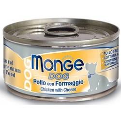Monge Dog Pollo con Formaggio 95 gr