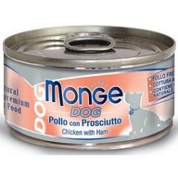 Monge Dog Pollo con Prosciutto 95 gr
