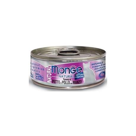 Monge Natural Gatto Tonno e Petto di Pollo con Manzo 80 gr
