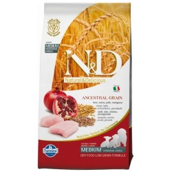 Farmina n&d Low Grain Puppy Medium Farro,Avena,Pollo e Melograno 12 kg