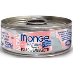 Monge Natural Gatto Pollo e Gamberetti 80 gr