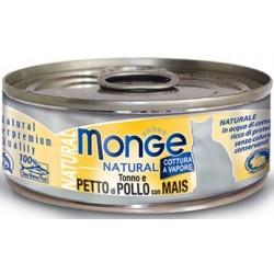 MONGE CAT NATUR TON/POL/MAIS 80GR
