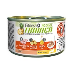Fitness Trainer Adult Mini Coniglio, Patate e Olio 150 gr