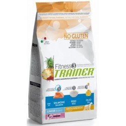 Fitness Trainer Junior Medium & Maxi Salmone, Riso e Olio 12,5 kg