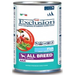 Exclusion Mediterraneo Adult All Breed Pesce 400 gr