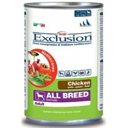 Exclusion Mediterraneo Adult All Breed Pollo 400 gr