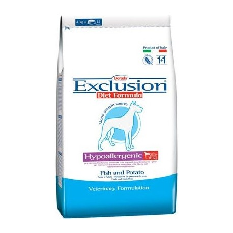 Exclusion Diet Hypoallergenic Medium/Large Breed Pesce e Patate 3 kg