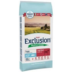 Exclusion Mediterraneo Puppy Large Breed Pesce 12,5 kg