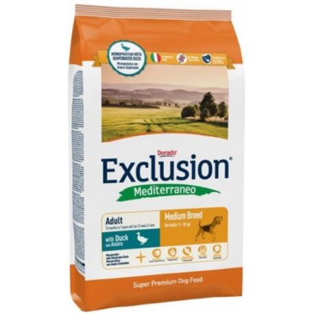 Exclusion Mediterraneo Adult Medium Breed Anatra 12,5 kg