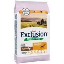 Exclusion Mediterraneo Light Medium Breed Pollo 3 kg