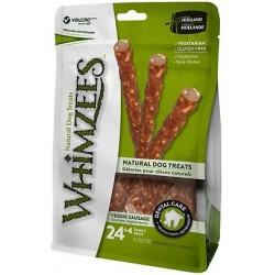 Whimzees Snack per Cani Salsiccia Veggie S 24+4 Pz