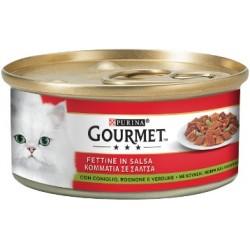 Purina Gourmet Fettine in Salsa con Coniglio, Rognone e Verdure 6x195 gr