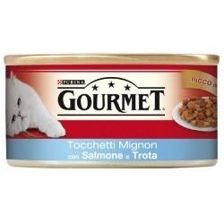 Purina Gourmet Tocchetti Mignon con Salmone e Trota 6x195 gr