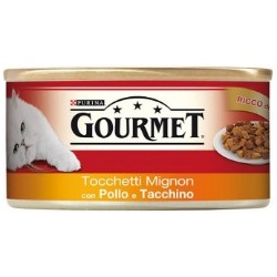 Purina Gourmet Tocchetti Mignon con Pollo e Tacchino 6x195 gr