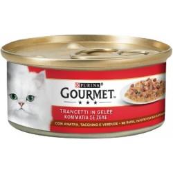 Purina Gourmet Trancetti in Gelée con Anatra, Tacchino e Verdure 6x195 gr