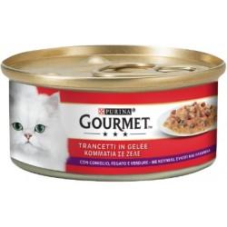 Purina Gourmet Trancetti in Gelée con Coniglio, Fegato e Verdure 6x195 gr