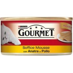 Purina Gourmet Mousse con Anatra e Pollo 6x195 gr