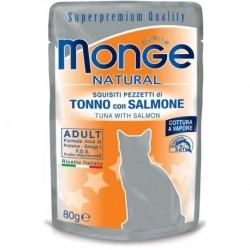 MONGE CAT TONNO SALMONE 80GR BUSTINA