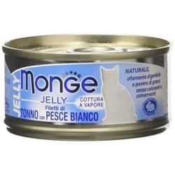 MONGE CAT JELLY FILETTI TONNO/PESCE 80GR