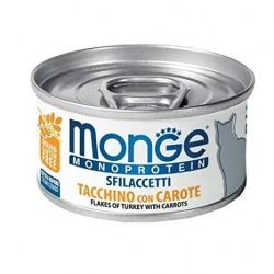MONGE CAT SFILACCETTI MONO TACCHINO 80GR