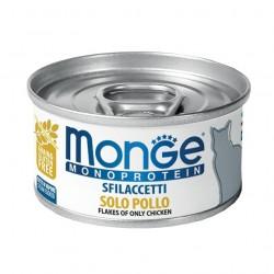 MONGE CAT SFILACCETTI MONO POLLO 80GR