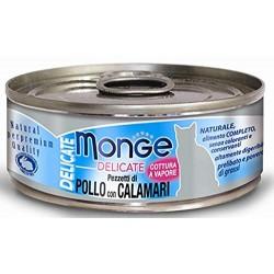 MONGE CAT DELIC POLLO/CALAMARI 80GR