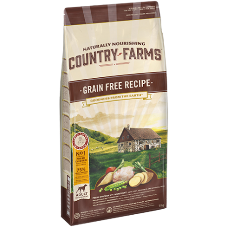 COUNTRY GRAIN FREE ADULT POLLO 11KG