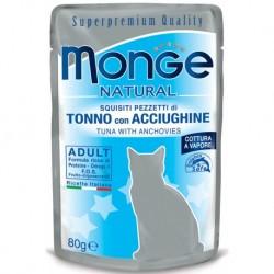 MONGE CAT TONNO ANATRA 80GR BUSTINA