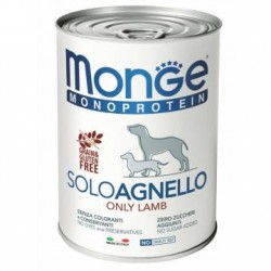 MONGE DOG SOLO AGNELLO 400GR