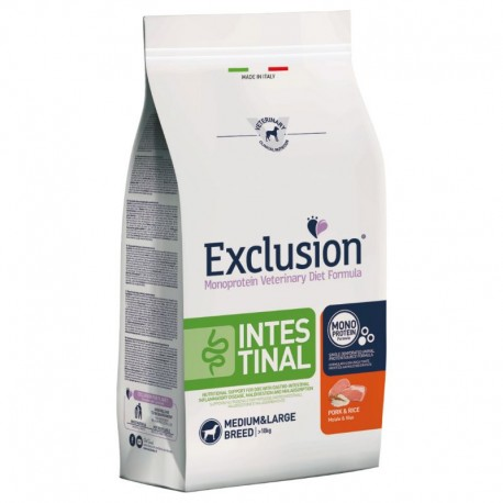 Exclusion Diet Intestinal Medium/Large Breed Maiale e Riso 12,5 kg